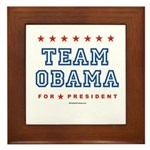 Team Obama Framed Tile