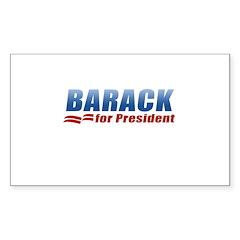 Barack for President Rectangle Sticker