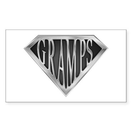 SuperGramps(metal) Rectangle Sticker