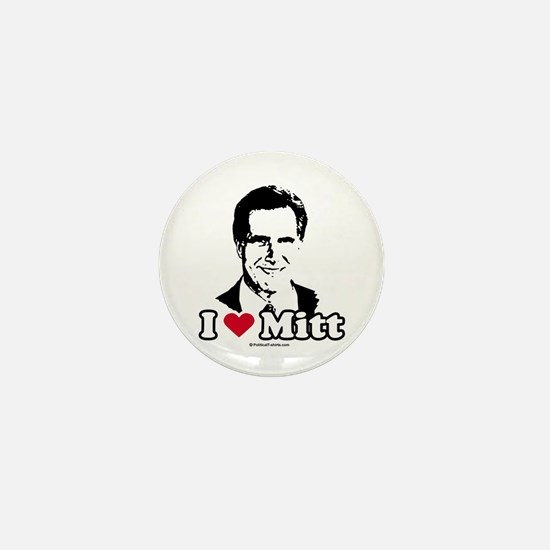 I Love Mitt Mini Button
