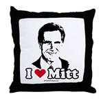 I Love Mitt Throw Pillow