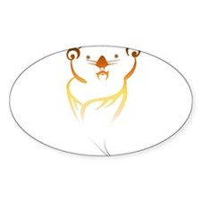 Otter bear pride Oval Decal