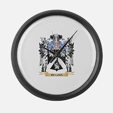 Regina Coat of Arms - Family Cres Large Wall Clock