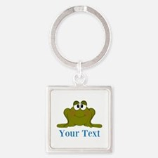 Personalizable Blue Frog Keychains