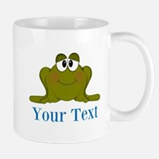Personalizable Blue Frog Mugs