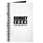 Romney 2008: I'm wit' Mitt. Are you? Journal