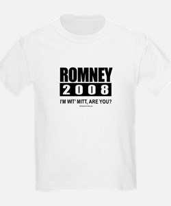 Romney 2008: I'm wit' Mitt. Are you? T-Shirt