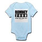 Romney 2008: I'm wit' Mitt. Are you? Infant Bodysu