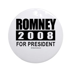 Romney 2008: For President Ornament (Round)