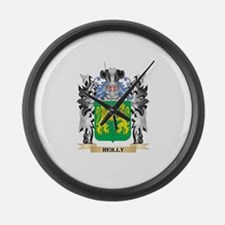 Reilly Coat of Arms - Family Cres Large Wall Clock