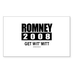 Romney 2008: Get wit' Mitt Rectangle Decal