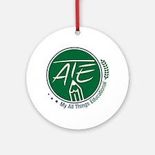ATE Logo Round Ornament