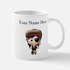 Personalized Pirate Girl Mugs