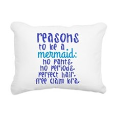 Reasons to be a Mermaid Rectangular Canvas Pillow
