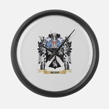 Reina Coat of Arms - Family Crest Large Wall Clock