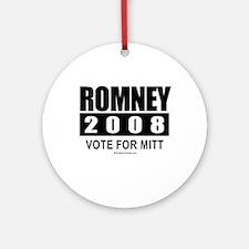Romney 2008: Vote for Mitt Ornament (Round)