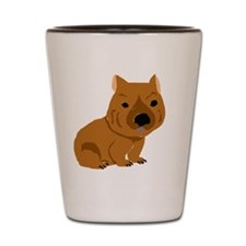 Funny Brown Wombat Shot Glass