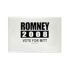 Romney 2008: Vote for Mitt Rectangle Magnet (10 pa