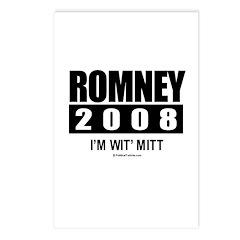 Romney 2008: I'm wit Mitt Postcards (Package of 8)