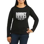 Romney 2008: I'm wit Mitt Women's Long Sleeve Dark