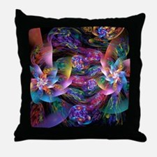 Smooth Plastic Bubbles Throw Pillow