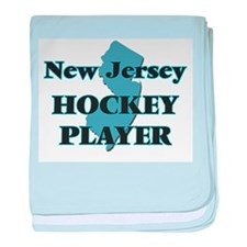 New Jersey Hockey Player baby blanket