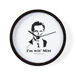 ROMNEY 2008: 'm wit' Mitt Wall Clock
