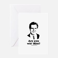 ROMNEY 2008: Are you with Mitt? Greeting Card