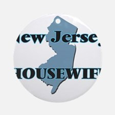 New Jersey Housewife Round Ornament