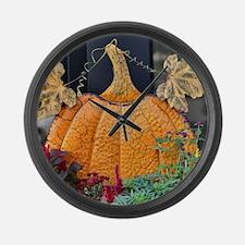 Cute Pumpkin Large Wall Clock