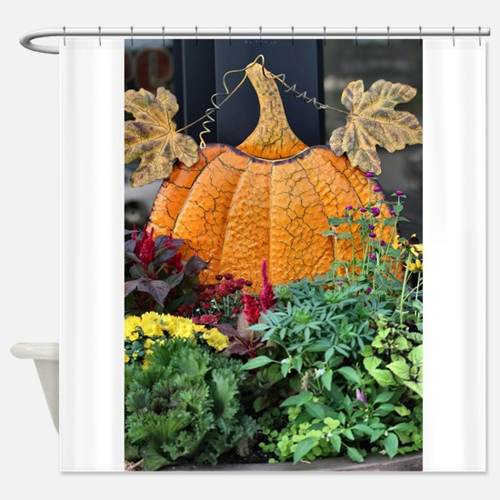 Cute Pumpkin Shower Curtain