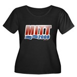 Mitt 2008 Women's Plus Size Scoop Neck Dark T-Shir
