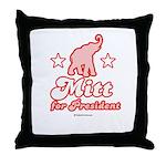 Mitt for President Throw Pillow