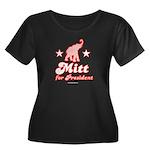 Mitt for President Women's Plus Size Scoop Neck Da