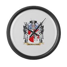 Remington Coat of Arms - Family C Large Wall Clock