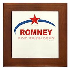 Romney for President Framed Tile