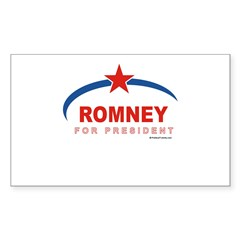 Romney for President Rectangle Decal