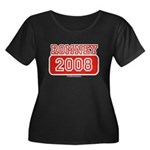 Romney 2008 Women's Plus Size Scoop Neck Dark T-Sh
