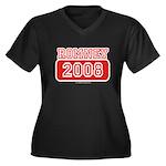 Romney 2008 Women's Plus Size V-Neck Dark T-Shirt