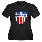 Mitt Romney Women's Plus Size V-Neck Dark T-Shirt