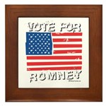 Vote for Romney Framed Tile