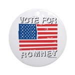 Vote for Romney Ornament (Round)