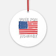 Vote for Romney Ornament (Round)
