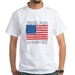 Vote for Romney White T-Shirt