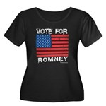 Vote for Romney Women's Plus Size Scoop Neck Dark
