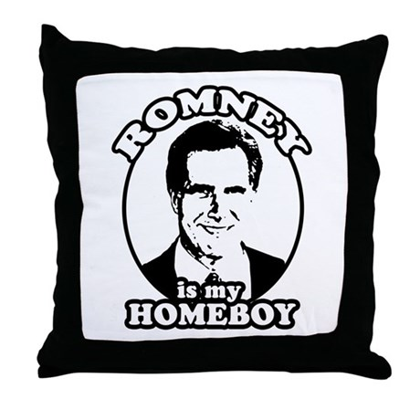 Romney is my homeboy Throw Pillow