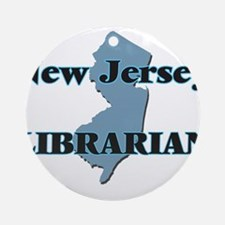 New Jersey Librarian Round Ornament