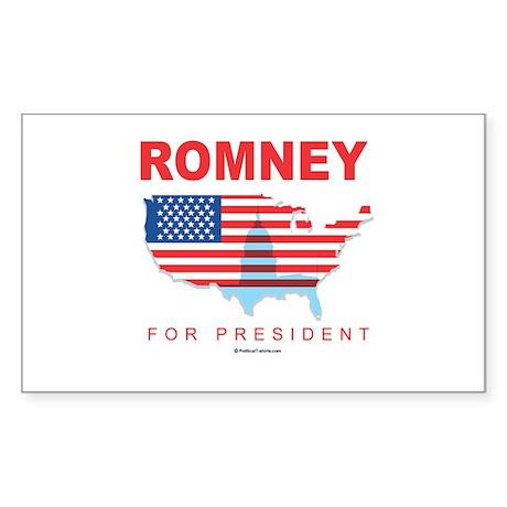 Romney for President Rectangle Sticker