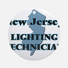 New Jersey Lighting Technician Round Ornament