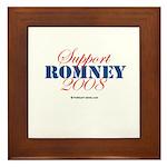 Support Romney Framed Tile